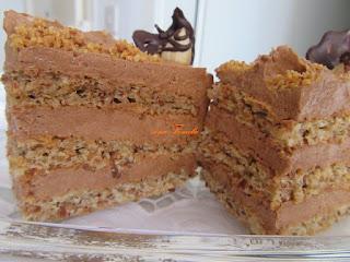 Festive hazelnut cake