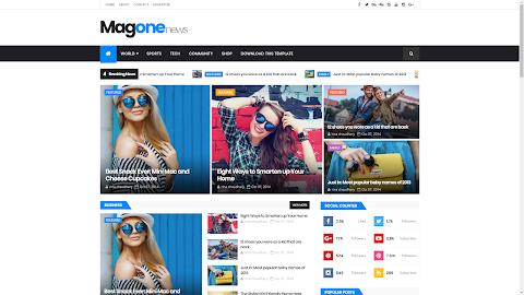 Mẫu MagOne Responsive Blogger Template (Giá 50K)