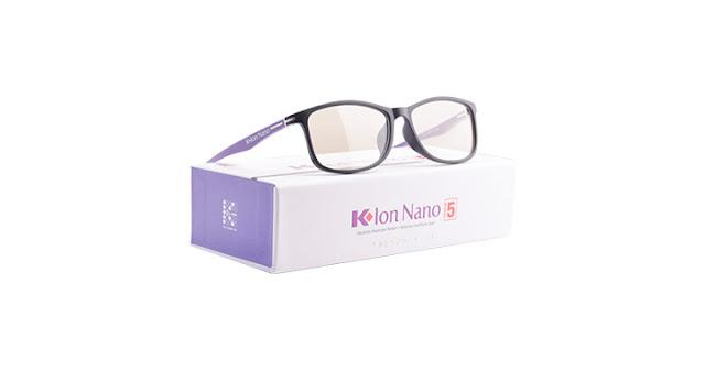 Kacamata K-ion Nano Premium 5 Black Purple (Warna Hitam-Ungu)
