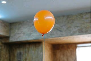 An orange balloon