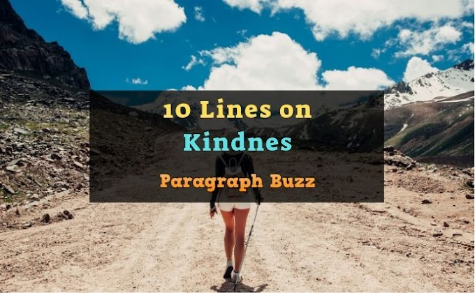10 Lines on Kindness in English