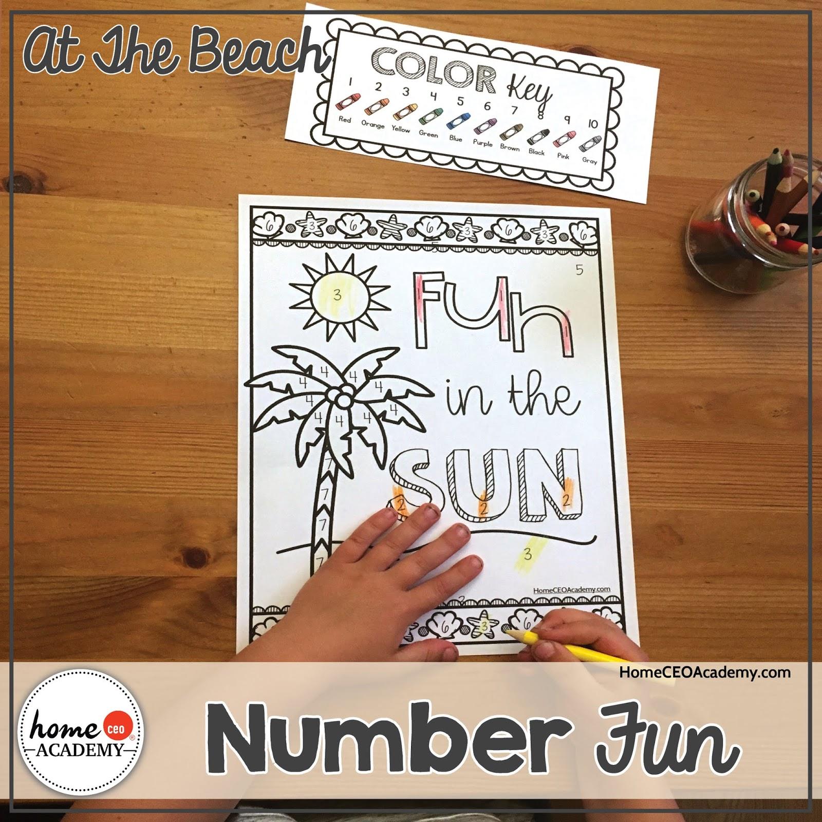 Preschool Homeschool Beach Unit