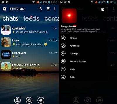 Download BBM Mod WindowsPhone Transparan Apk Terbaru