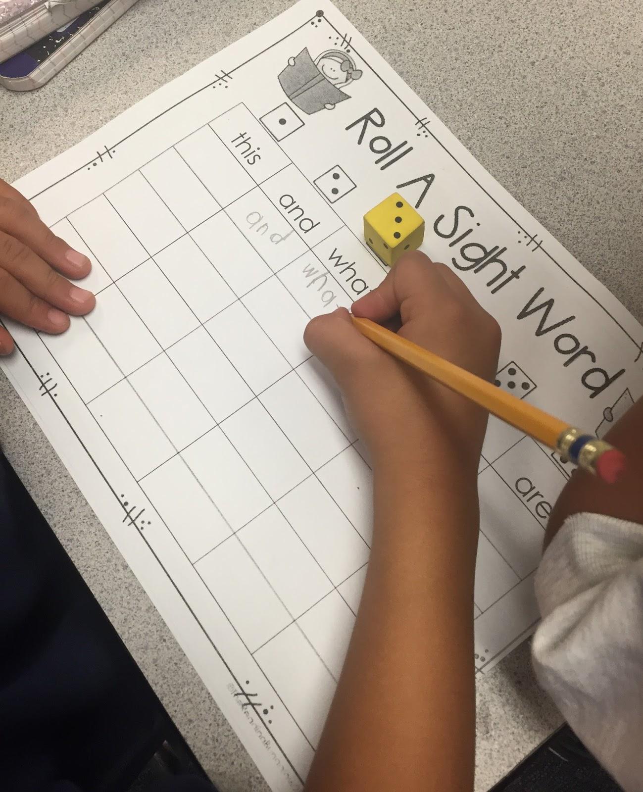 Ms Moran S Kindergarten Kindergarten Sight Word Activities