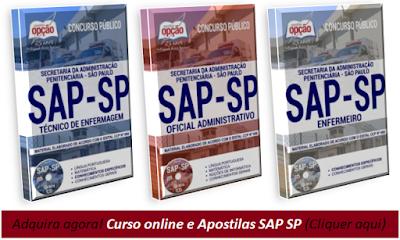 apostilas e curso-online sap-sp oficial administrativo