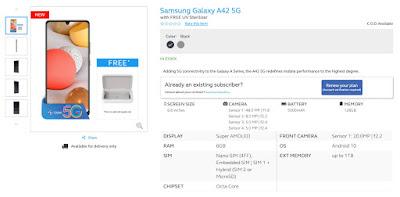 Samsung Galaxy A42 5G Globe
