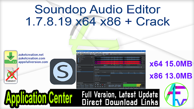 Soundop Audio Editor 1.7.8.19 x64 x86 + Crack
