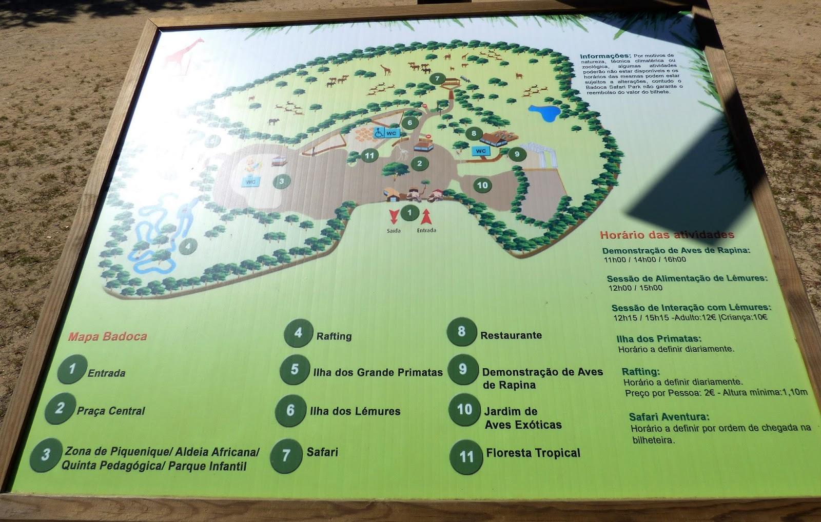 badoca safari park mapa Viajar e descobrir: Portugal   Vila Nova de Santo André   Badoca  badoca safari park mapa