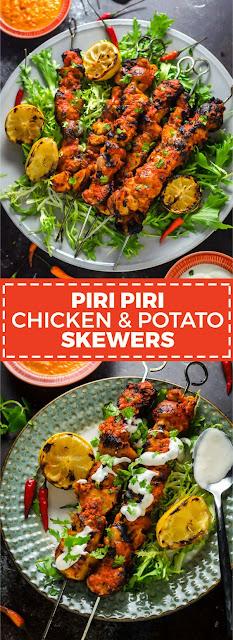 PIRI PIRI CHICKEN AND POTATO SKEWERS