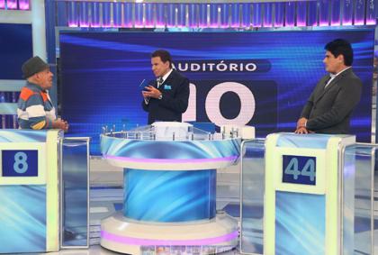 Silvio Luiz, Silvio e César (Crédito: Roberto Nemanis/SBT)