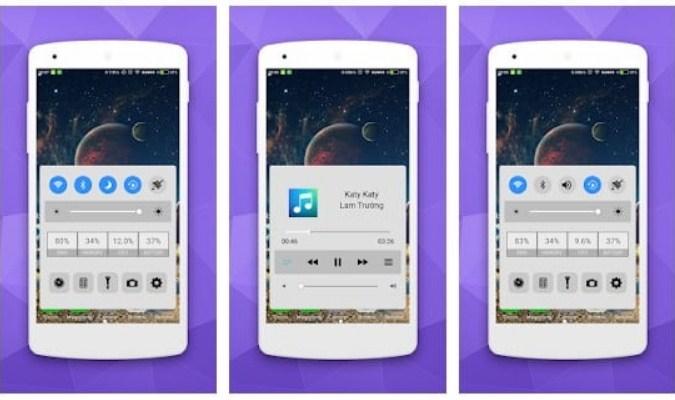 Launcher Android dengan Tampilan ala iOS - Control Panel