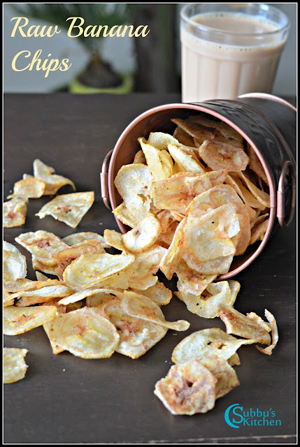 Raw Banana Chips Recipe | Vazhakkai Chips Recipe