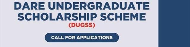 Dare Undergraduate Scholarship Scheme Application Form 2021