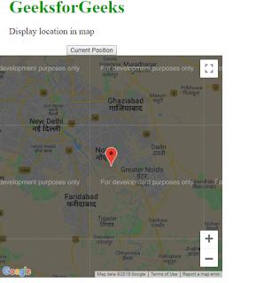 menampilkan peta pada geolokasi html