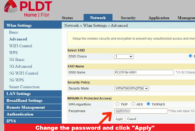 Change your wifi name and password