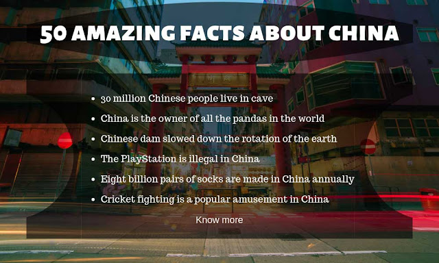50 amazing and unknown facts about China