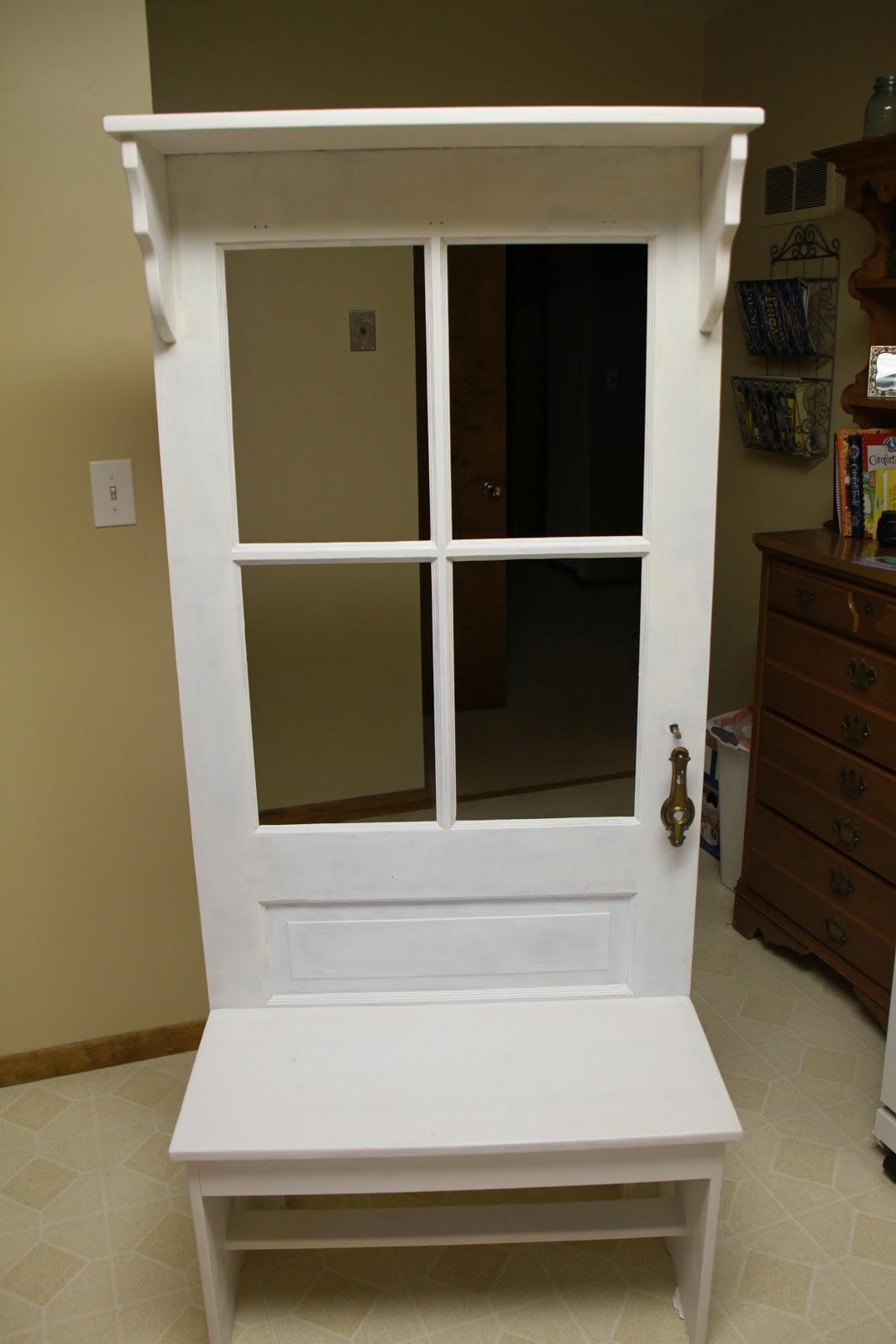 White Entry Way Bench