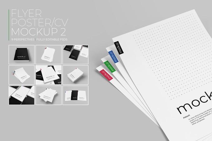 Flyer / Poster / CV Mockup 2[Photoshop][PSD][4553767]