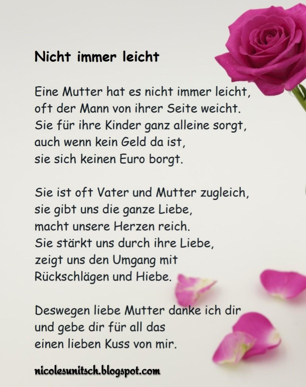 Gedichte Von Nicole Sunitsch Autorin Nicht Immer Leicht