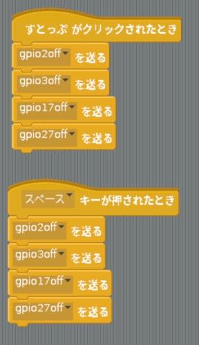 Scratchのスクリプト(すとっぷ)