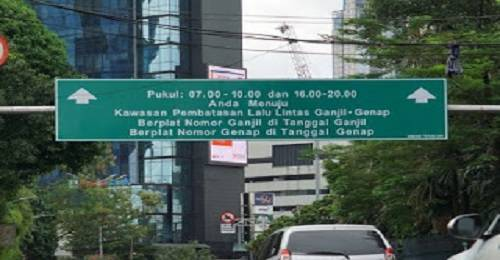 Ganjil Genap Jakarta hari ini