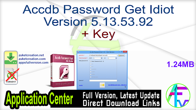 Accdb Password Get Idiot Version 5.13.53.92 + Key