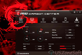 MSI Dragon Center- Best Free System Performance And System Tuner Tools, MSI Dragon Gaming Center Download Free for Windows