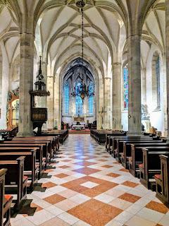 Bratislava in winter: Inside St. Martin's Church