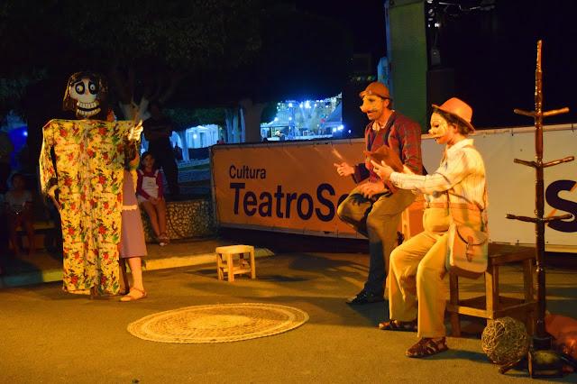 Segundo dia do Festival Cultural da Juventude da Pedra foi do Mala assombro do teatro ao forró de Targino Gondim