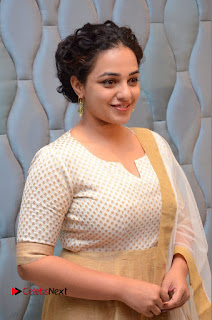 Actress Nithya Menen Pictures at 100 Days of Love Pre Release Press Meet  0064