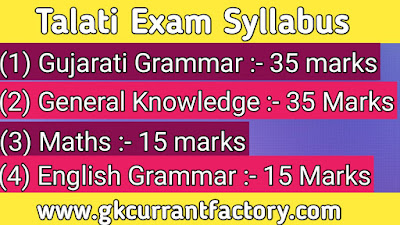 Talati Exam paper, Talati Questions and model paper with solution, Talati Exam paper PDF download