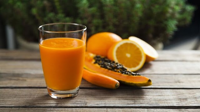 Delicious papaya smoothie