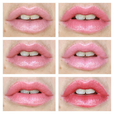 Maybelline Colour Sensational The Blushed Nudes Collection Lipsticks 07 Fairly Bare, 157 More To Adore, 207 Pink Fling, 117 Tip Top Tulle, 137 Sunset Blush and 407 Lust Affair review swatch swatches
