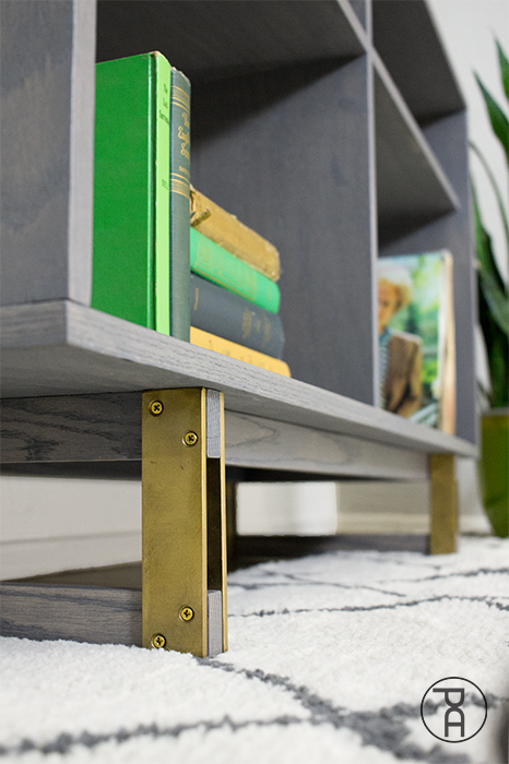 diy brass brush steel plate wood legs feet furniture modern furniture