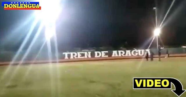 El Tren de Aragua se apoderó de un estadio de béisbol completo