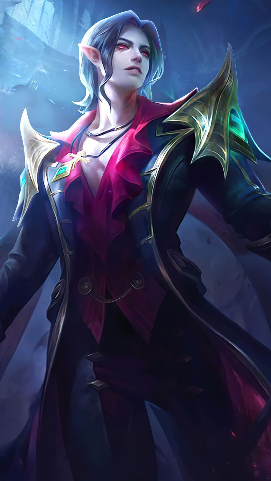 Wallpaper Cecilion Embrace of Night Skin Mobile Legends HD for Android and iOS