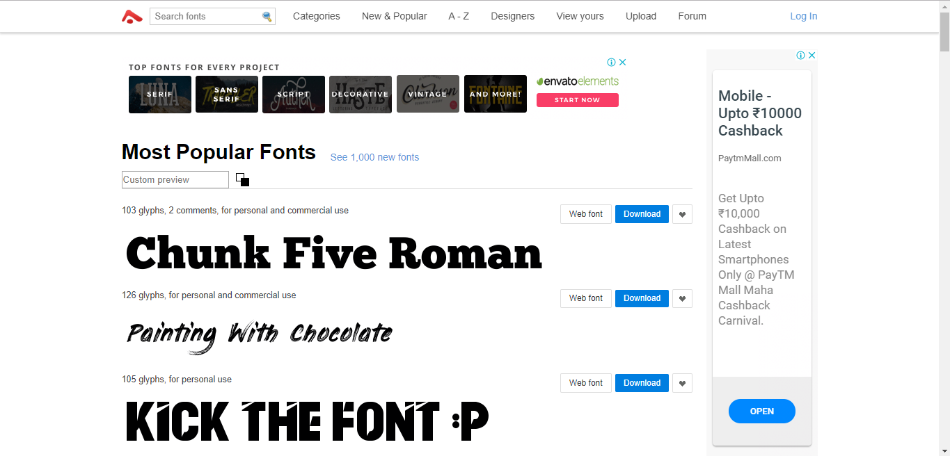 Abstractfonts-best font websites