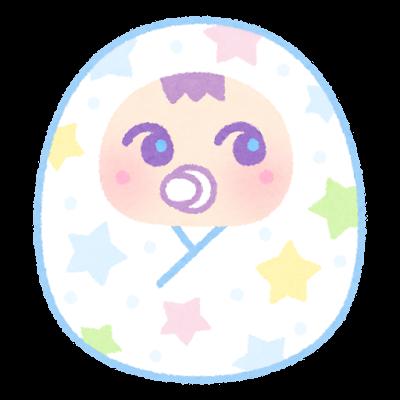 ゆめかわ赤ちゃんのイラスト(おくるみ)