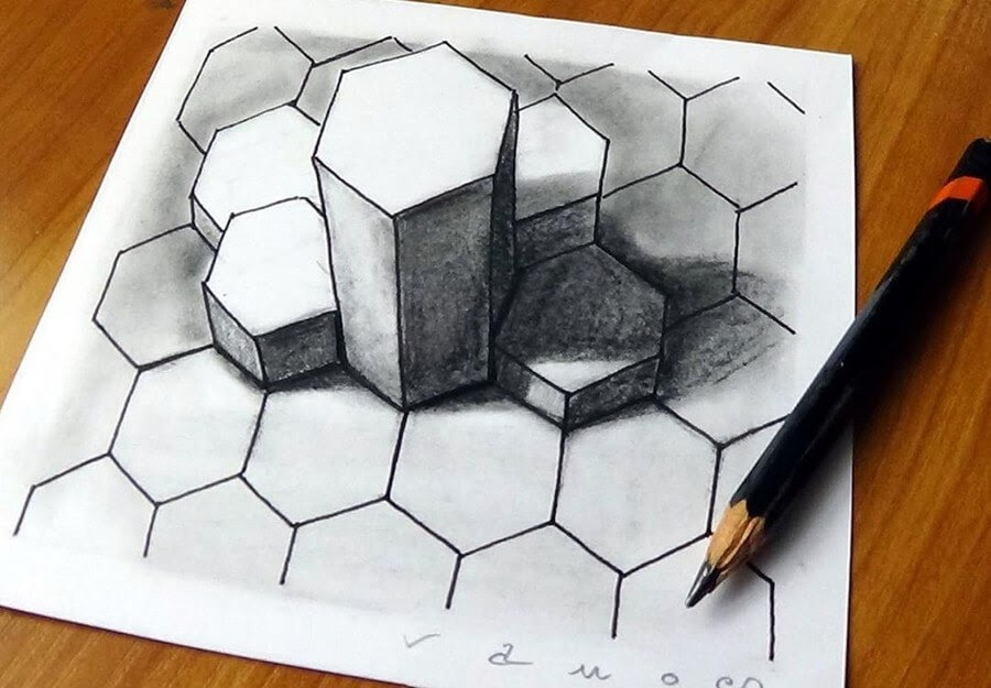05-Hexagons-3D-Art-Sandor-Vamos-www-designstack-co