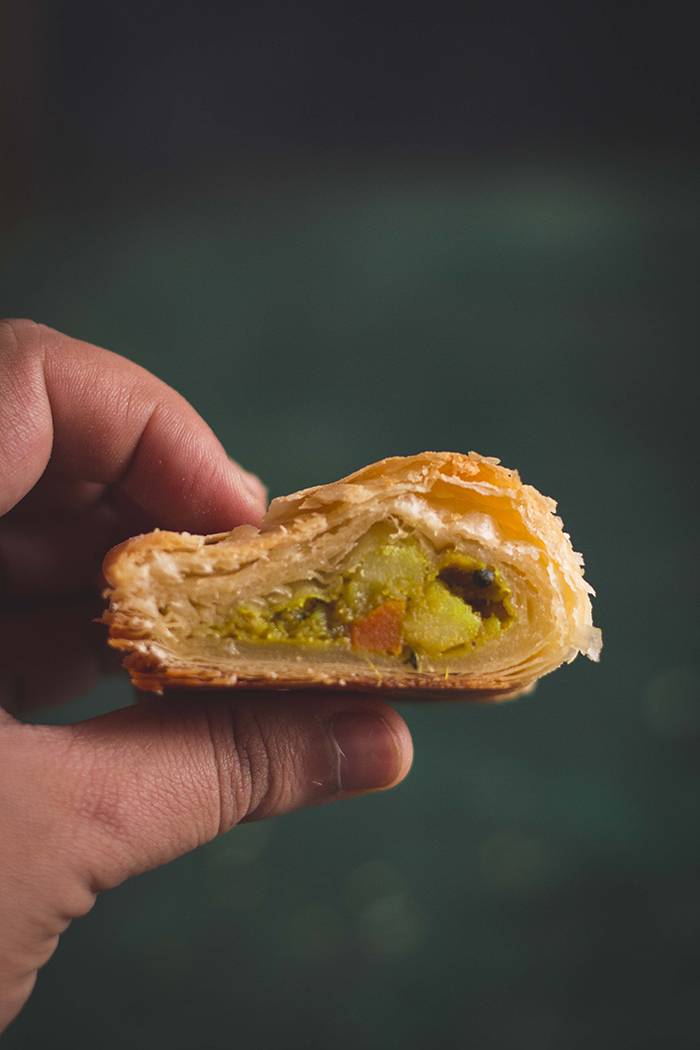 Indian vegetable puff