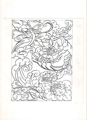 Gambar Batik Motif Bunga Sederhana