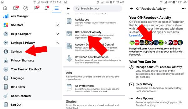 كيفية ايقاف فيسبوك عن جمع بيانات المستخدمين من خلال ميزة Off-Facebook Activity