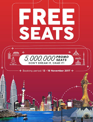 AirAsia Free Seats Zero Fares Flight Ticket Discount Offer Promo