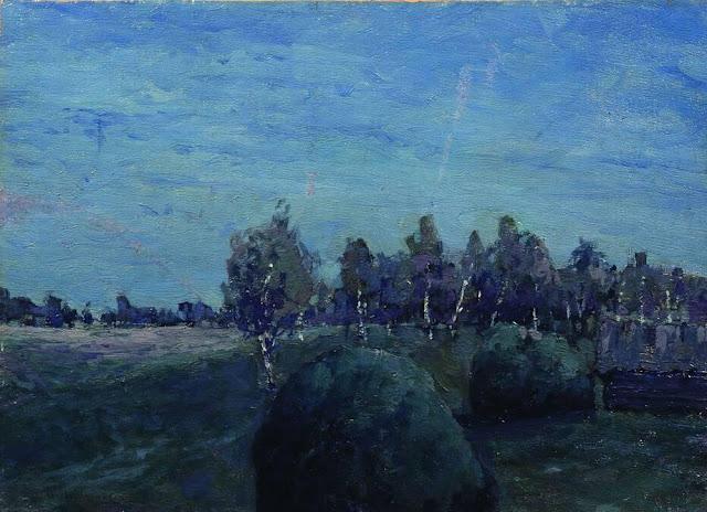 Исаак Ильич Левитан - Лунный пейзаж. 1890-е
