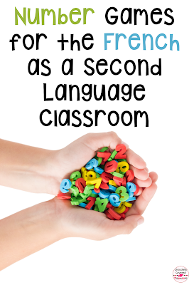 Are you teaching core French or French as a Second Language this year? Do your students need more practice with numbers in the target language? This blog post talks about five fun number games that you can play in your FSL classroom tomorrow! Upper elementary and middle school second language students will love these fun number activities. Students will practice French numbers 1-100 in these engaging games. These number activities for kids will be enjoyed by all of your FSL learners. #fifthgrade