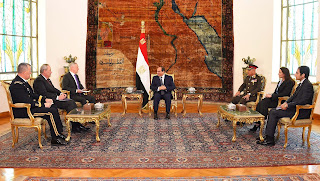 Al-Sisi assured US Defense Secretary of the importance of enhancing military cooperation