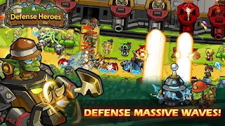Defense Heroes: Defender War Offline Tower Defense apk mod