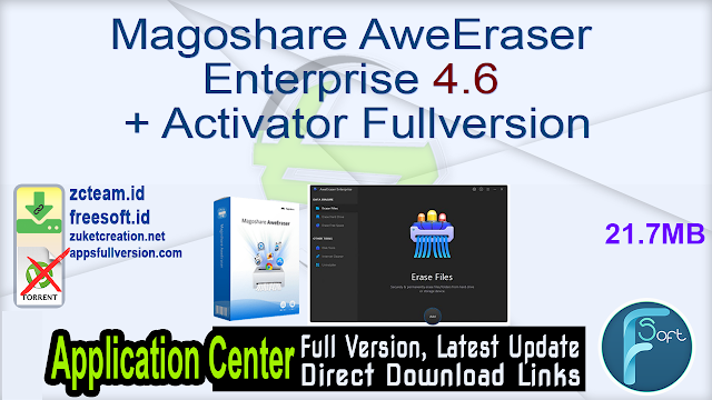Magoshare AweEraser Enterprise 4.6 + Activator Fullversion