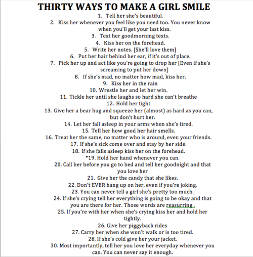 Think Like A Lady How To Make A Girl Smile