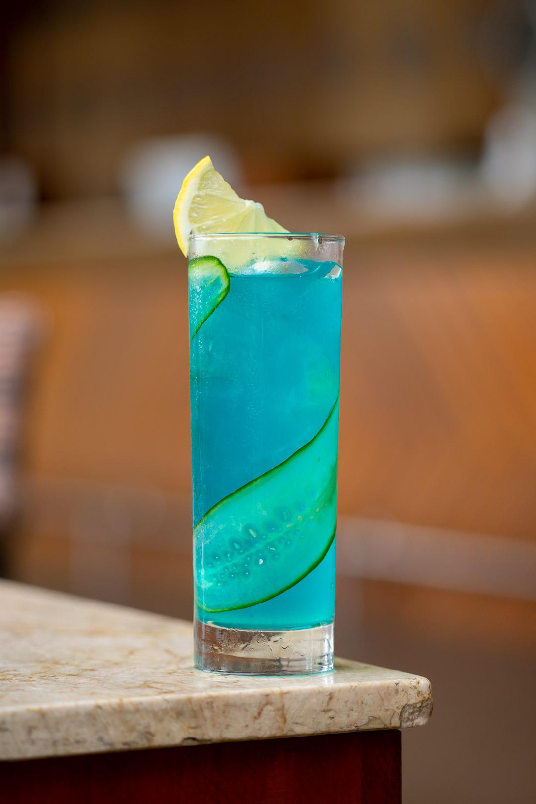 Bubbly Lemon Timun Cucumber Beverage Photography